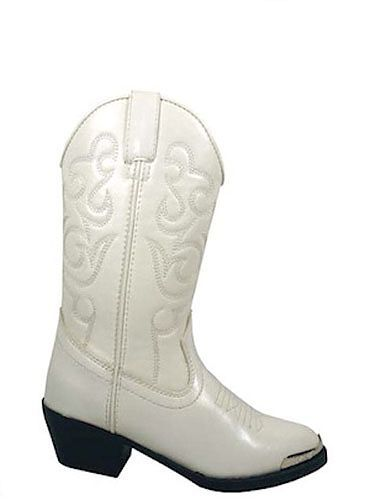 Kids Western Boots White