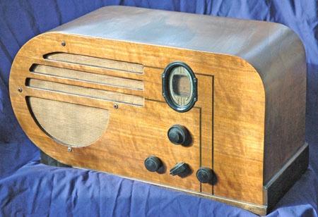 Console de table tournante radio vintage Philco