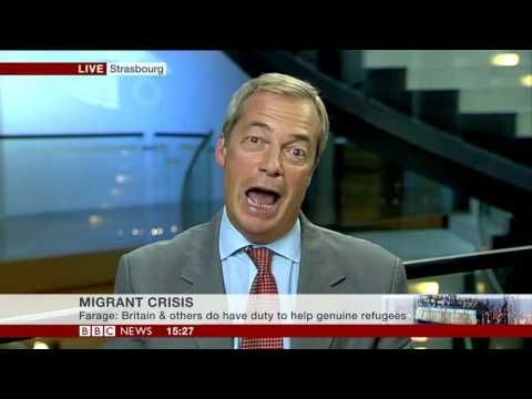 Breaking : Nigel Farage - The Arab Nations Aren't Taking In Refugees