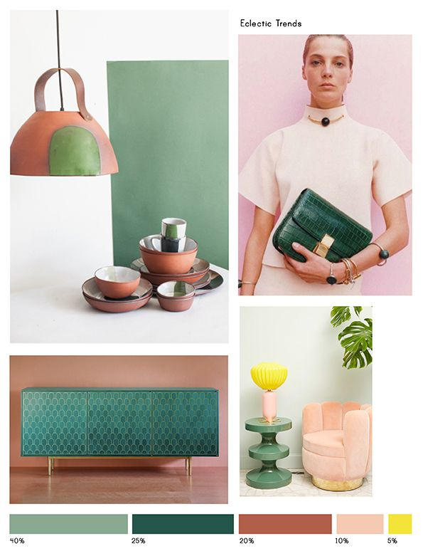 Color Inspiration No.15: Celadon, Basil, Terracotta, Rose and Sun via Eclectic Trends