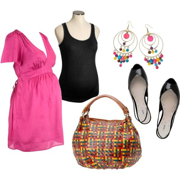 Summer Maternity Dress, created by fortheloveofblueshoes.polyvore.com... Maternity  wear