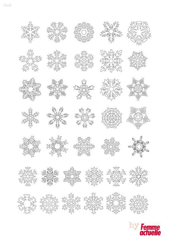 Les 25 meilleures id es de la cat gorie flocon de neige - Motif de noel a imprimer ...