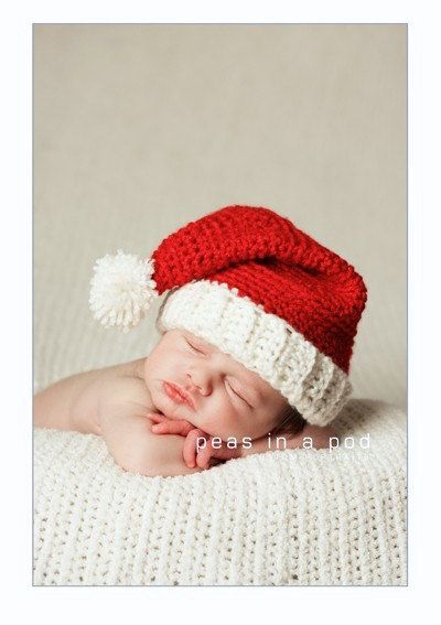 Newborn Santa Hat, Santa Hat, Baby Santa Hat, Baby Christmas Hat, Crochet Santa Hat, Infant Christmas Outfit, Santa Claus, Infant Santa Hat by ToddlerToppers on Etsy https://www.etsy.com/listing/61410771/newborn-santa-hat-santa-hat-baby-santa
