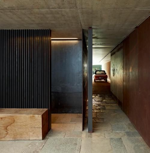 Fabulous mix of concrete, stone, timber and copper walls. From RCR Arquitectes in Spain