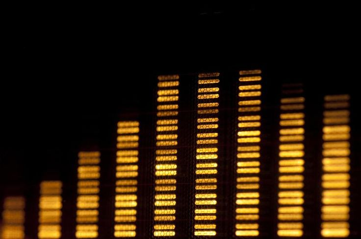 a digital spectrum analyser bar graph display - free stock photo from www.freeimages.co.uk