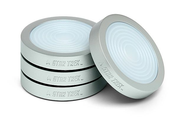 Star Trek Transporter Pad LED Coasters Plays Sounds With Every Sip -  #startrek #STTNG #thinkgeek