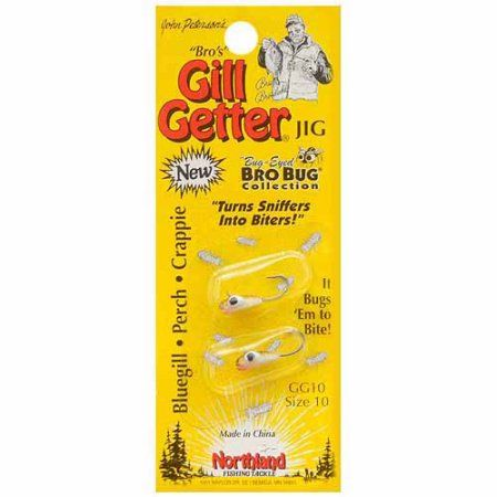 Northland Tackle Gill-Getter Jig Bro's Bug Collection, #10, Brown