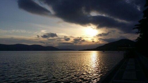 Salamina Sunset & Clouds
