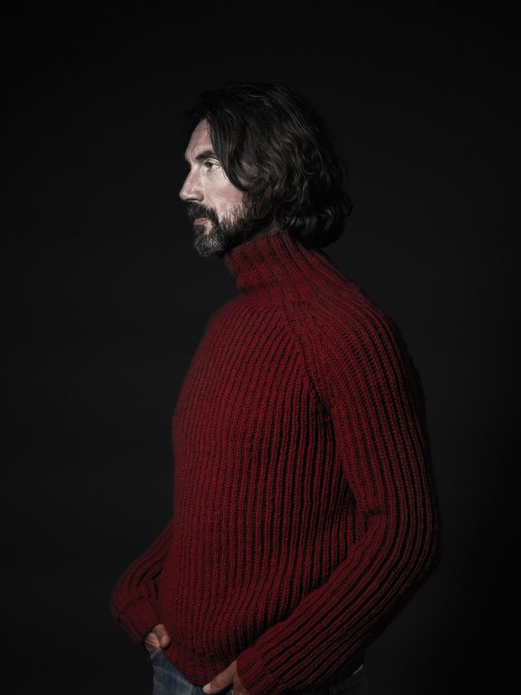 Marc Brady in the Antidote turtleneck fisherman sweater