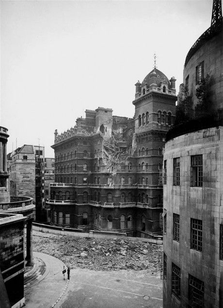 Langham Hotel, 1940, after being bombed