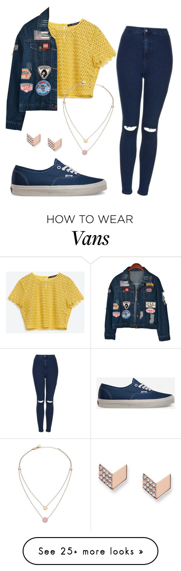 """""""#No name"""" by eemaj on Polyvore featuring Chicnova Fashion, Topshop, Vans, FOSSIL and Michael Kors"""
