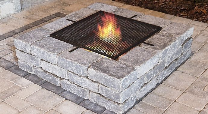 Stone Oasis Collection Square Firepit Kit Barkman