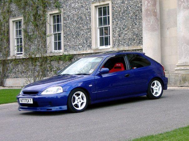 1999 honda civic ek3 in supersonic blue b90p with white enkei 15 alloy wheels mugen front lip. Black Bedroom Furniture Sets. Home Design Ideas