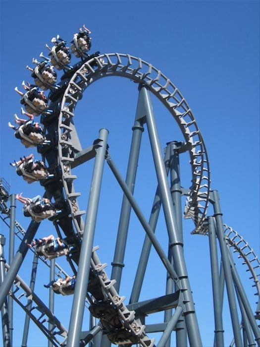 Movie World, Gold Coast, Australia. been on this ride 3 times. It goes upside down 5 times!