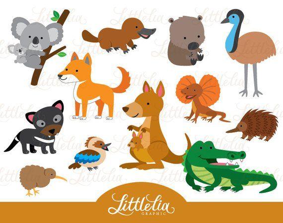 Aussie Animal Australian Animal 15057 Etsy In 2021 Animal Clipart Australian Animals Animals For Kids