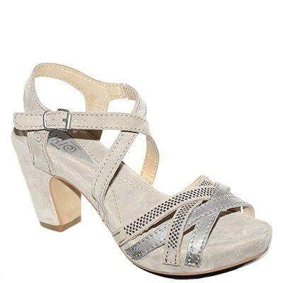 #Sandalo con il tacco grosso in camoscio grigio di #Khrio  http://www.tentazioneshop.it/scarpe-khrio/sandalo-14277-grigio-khrio.html