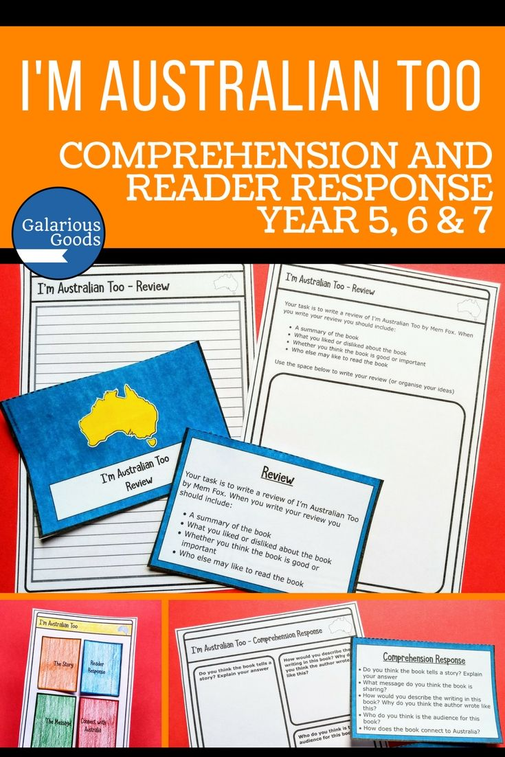Focus on comprehension and reader response with this book study excerpt for the Australian picture book, I'm Australian Too by Mem Fox. With comprehension questions, reader response questions, an interactive notebook activity and review activity, this is a must have for all upper primary classrooms #galariousgoods