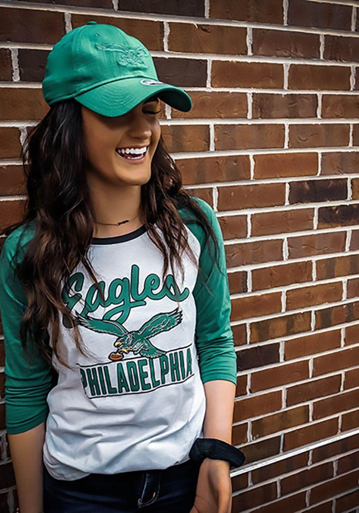 cb5e2c68 47 Philadelphia Eagles Womens White Splitter Raglan LS Tee Display ...