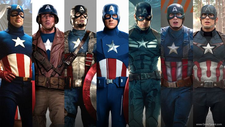 The Evolution of Captain America's Uniform — GeekTyrant