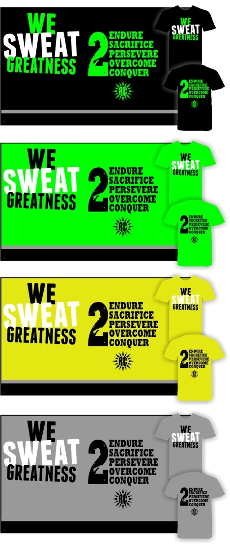 These shirts are for my boi, his workout partner and their Fit Crew in Cali. #WESWEATGREATNESS #LETSGETIT