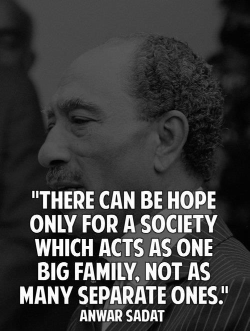 Great Sadat Egypt quotes
