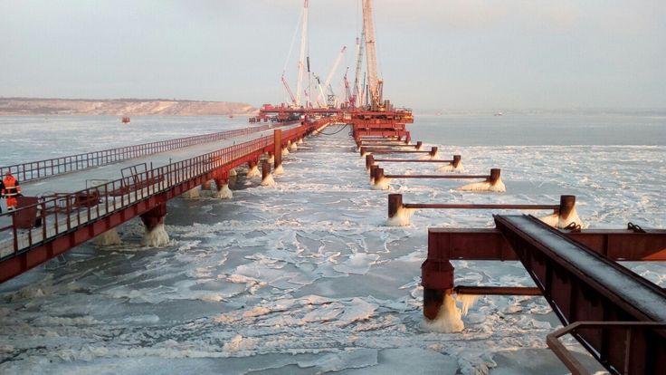 Керченский мост через пролив сегодня, февраль 2017 год