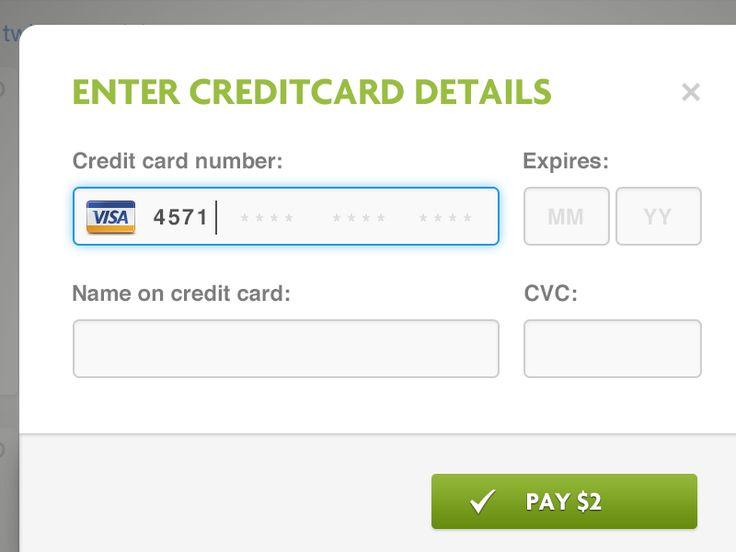 Ben Herman (benherman) on Pinterest - credit card form