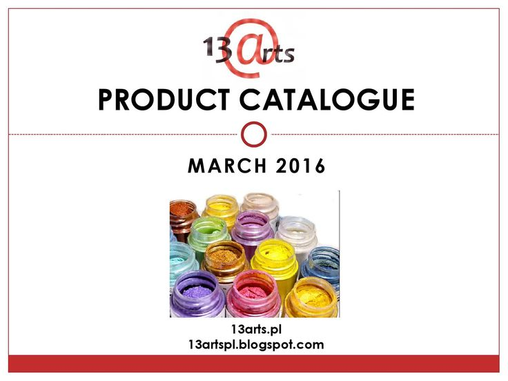 Product catalogue march 2016