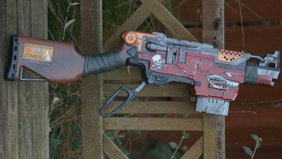 Nerf Slingfire custom paint zombie cosplay by NerfAtron on Etsy