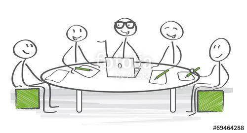 """Téléchargez le fichier vectoriel libre de droits """"Meeting"""" créé par Trueffelpix au meilleur prix sur Fotolia.com. Parcourez notre banque d'images en ligne et trouvez l'illustration parfaite pour vos projets marketing !"""
