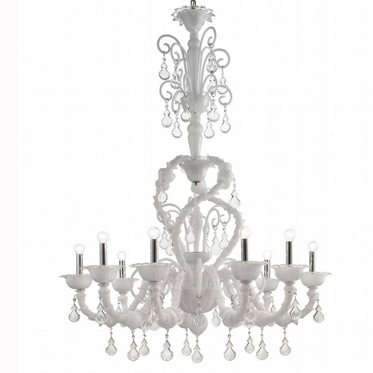 10 best white murano chandeliers images on pinterest chandelier neve murano glass chandelier aloadofball Choice Image
