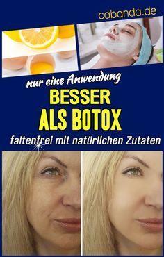 Wer braucht Botox, wenn Naturprodukte ähnliche Wirkungen erzielen und gesund sind? Der Effekt wird sofort erkennbar, die Maske lässt Flecken, Pickel und Falten verschwinden.