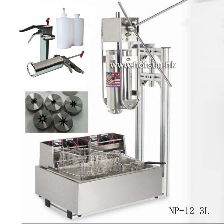 Free Shipping 3L Commercial Vertical Manual Churrera Churros Machine W 12L Fryer 700ml Filler