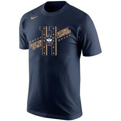 UConn Huskies Nike 2016 NCAA Women's Basketball National Champions 11-Time Champs T-Shirt - Navy