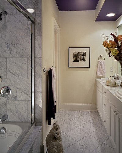 Purple Ceiling Paint, Bathtubs And Awesome Showers