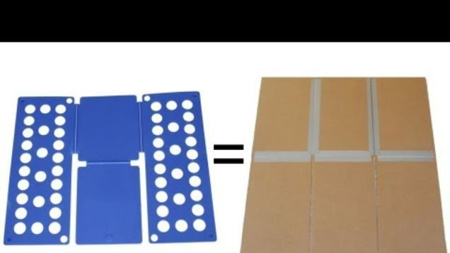 Employees at clothing stores use special boards to quickly and perfectly fold their merchandise, and you can create the same tool at home with some scrap cardboard and tape.