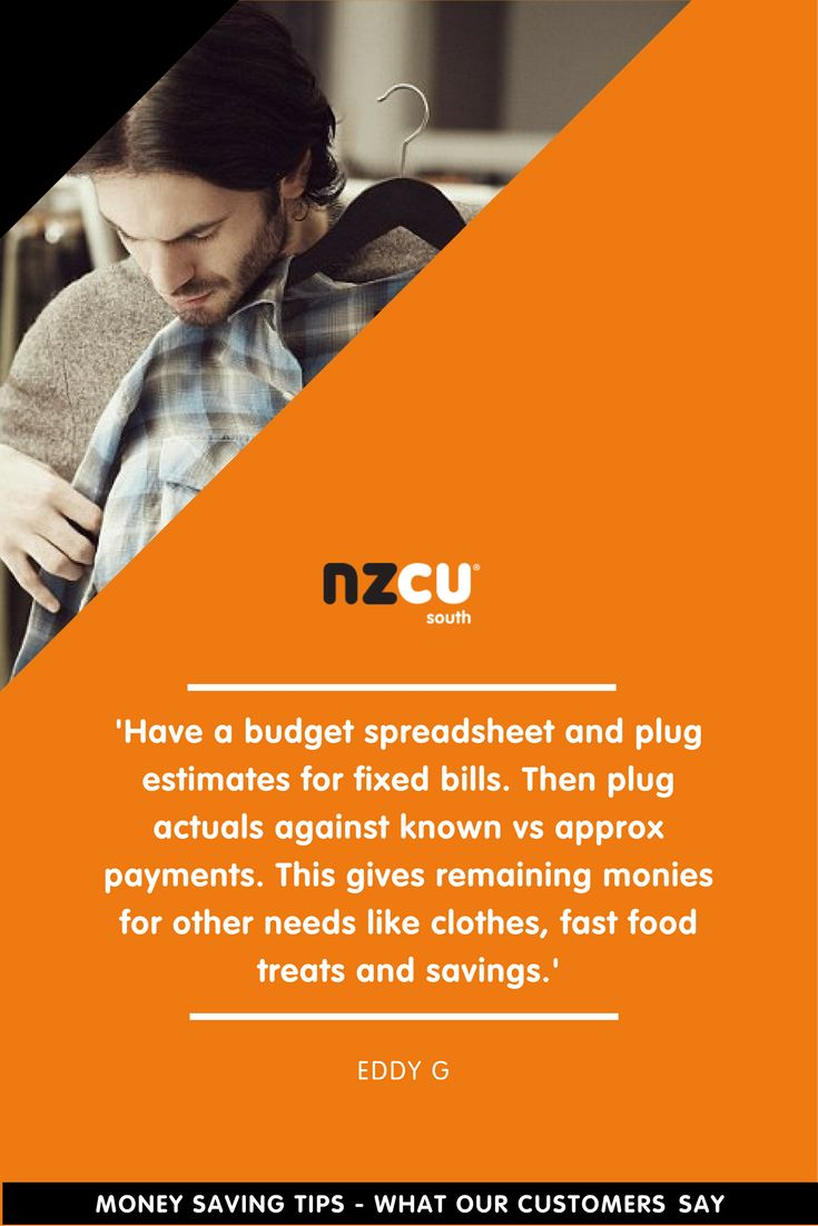 'Have a budget spreadsheet and plug estimates for fixed bills. Then plug actuals against known vs approx payments. This gives remaining monies for other needs like clothes, fast food treats and savings.'