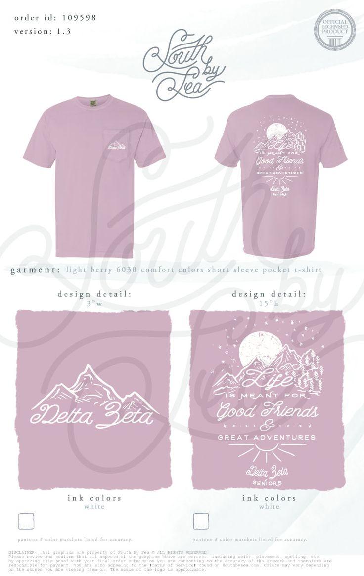 T shirt design richmond va - Delta Zeta Dz Life Is Meant For Good Friends And Great Adventures Seniors Sorority Shirt Designstee