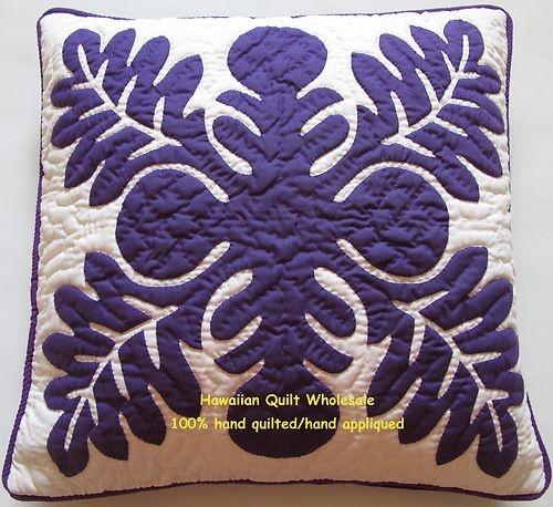 """16"""" Hawaiian Quilt Handmade Applique Pillow Covers"""