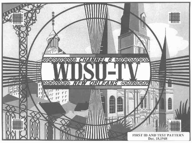 First ID and Test Pattern. New Orleans Channel 6 , 1948
