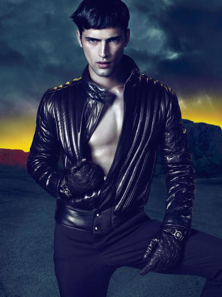 Sean O'Pry in Versace's Fall/Winter 2011 campaign, shot by Mert Alas and Marcus Piggott.