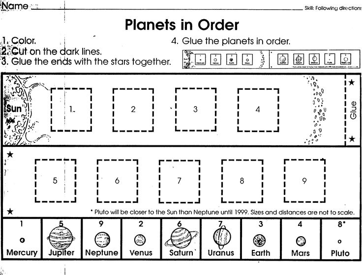 orbit solar system worksheet blank - photo #43