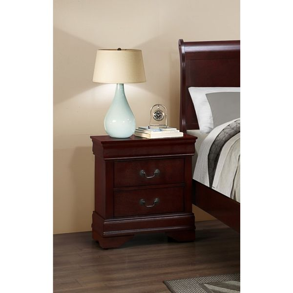 LYKE Home Louis Philippe Cherry Nightstand