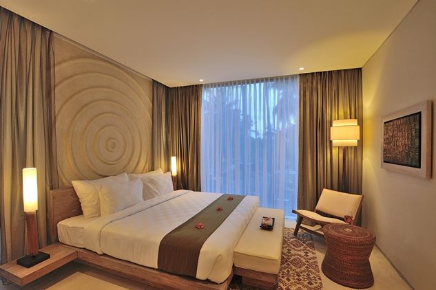 One of our spacious bedroom in the resort. It gives you total relax and tranquility on your holiday.