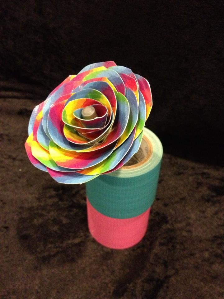 105 best flowers duct tape crafts images on pinterest for Where can i buy rainbow roses
