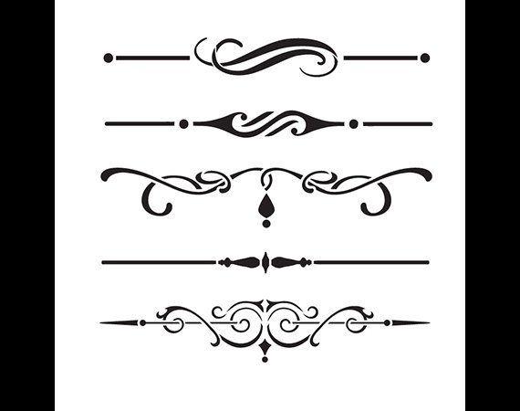 Underline Accents Art Stencil Select Size Stcl1120 By Etsy Accent Art Stencil Art Art