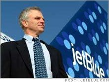 DAVID NEELEMAN (b. 1959) American airline executive: His father fell in love with Brazil on his Mormon mission & returned as a journalist. David spent his first 5 yrs there, & the family visited in summers even after their return to Utah. At 19 he spent 2 yrs working among Brazil's poor, a time that shaped his life. Founder of JetBlue airlines, he focused on benefiting employees & customers, not CEOs. A Brazilian citizen fluent in Portuguese, he later launched Azul airlines there [HLT]