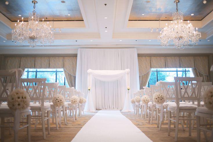 all white ceremony -dana + drew : boston four seasons wedding - Em the Gem