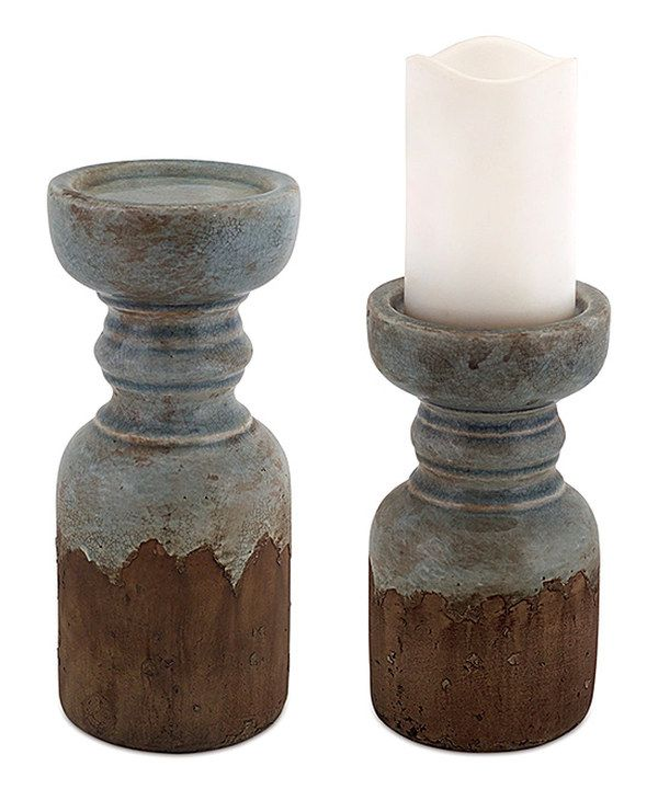 Look at this Rustic Candleholder - Set of Two on #zulily today!