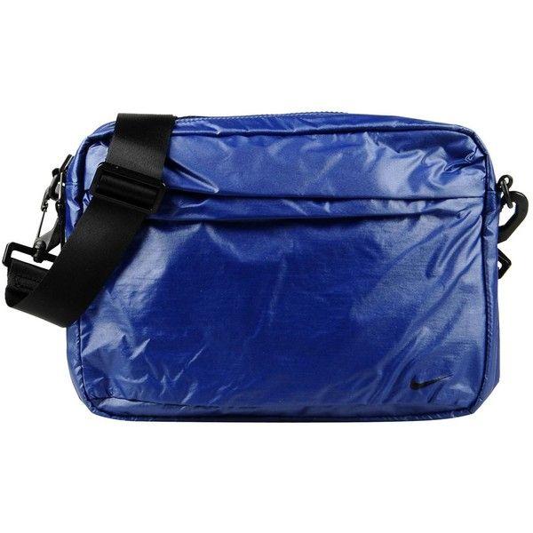 Nike Shoulder Bag (368.840 IDR) ❤ liked on Polyvore featuring bags, handbags, shoulder bags, blue, shoulder messenger bag, zip shoulder bag, blue purse, messenger handbags and nike handbags